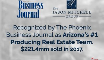 Phoenix Business Journal Announces the Jason Mitchell Group as the #1 Residential Real Estate Team in AZ