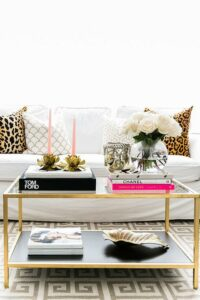 ikea-vittsjo-nesting-table-hack-gray-greek-key-rug-leopard-print-pillows