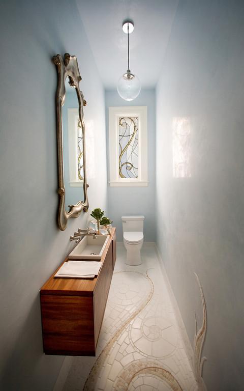 Marsh Amp Clark Designs Refurbish A Petite Powder Room In