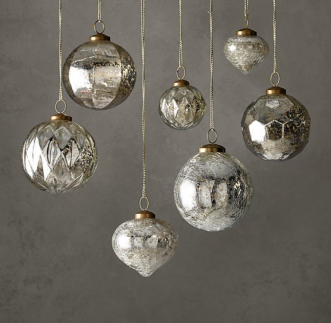 Restoration Hardware offers a ton of breathtaking artisan Christmas  ornaments. Some of my favorites include the pieces from the Vintage  Handblown Glass ... - Restoration Hardware Holiday