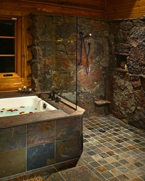 Custom Stone Showers Images