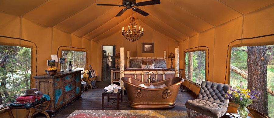 Luxurious Glamping in Montana