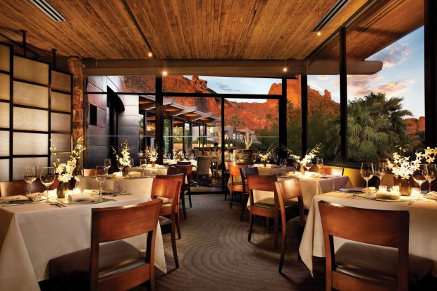The Elements Dining Room at Sanctuary Camelback Mountain Resort