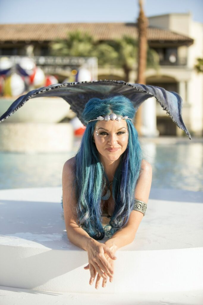 Moon Mermaid at Sunset Beach at the Fairmont Scottsdale Princess