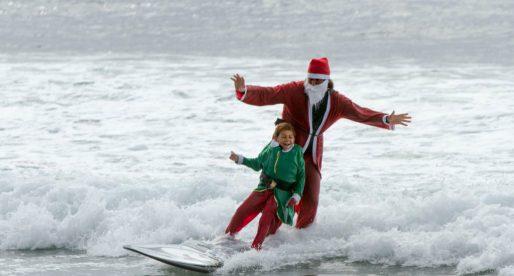 See Santa Surf at the Ritz-Carlton in Laguna Nigel