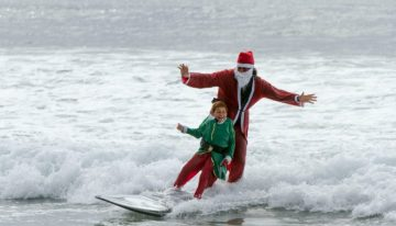 See Santa Surf at the Ritz-Carlton in Laguna Nigel