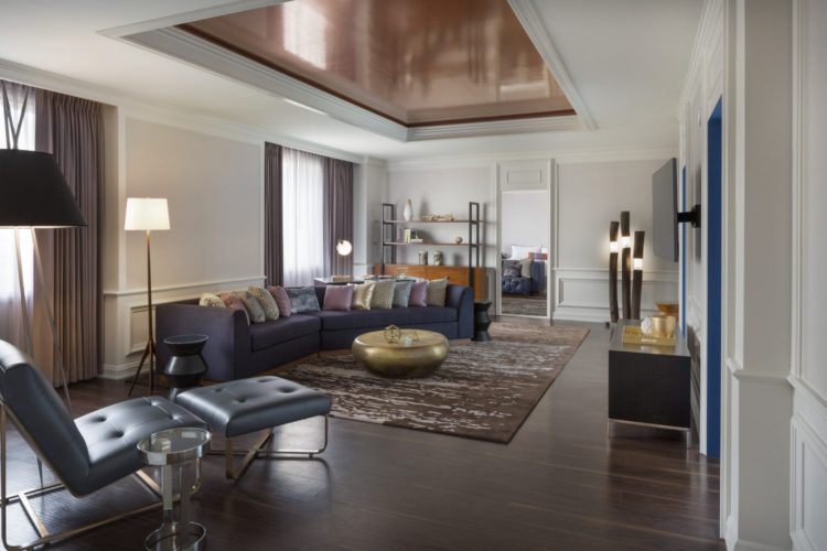 The Presidential Suite Living Room. Photo: The Camby