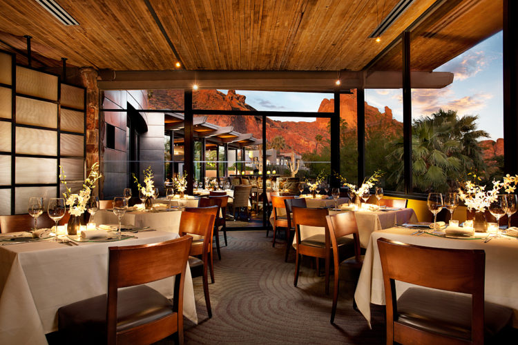 The dining room at Elements. Photo: Sanctuary on Camelback Mountain