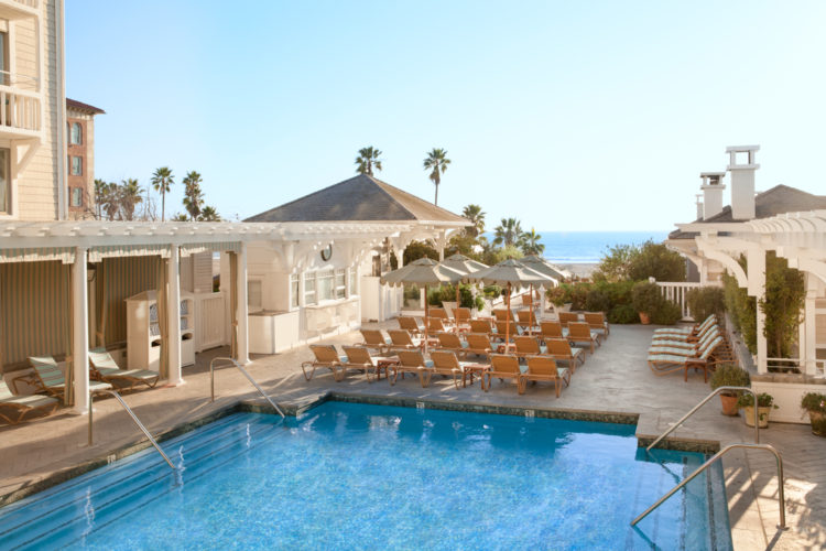 Photograph of the pool at Shutters on the Beach.
