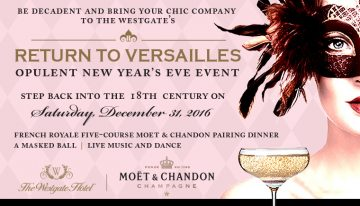 Ring in the New Year with The Westgate Hotel's Masquerade Night