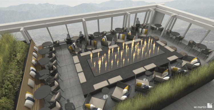 InterContinental LA Downtown_Sky Deck with Firepit