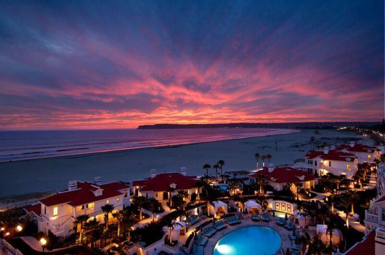 Beach Village Pool sunset