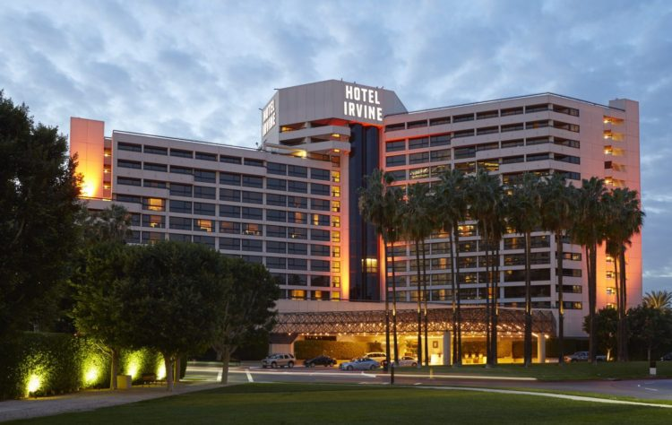 Hotel Irvine Exterior (Night)