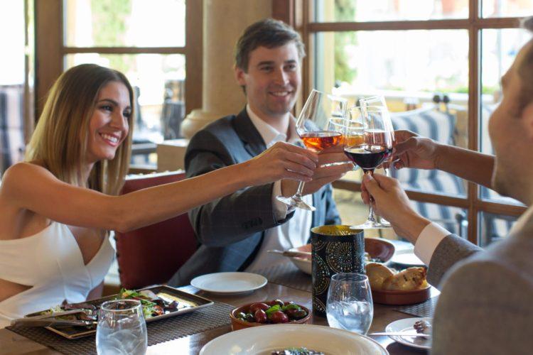 Guests enjoy dinner and drinks at Prado, Omni Scottsdale Resort & Spa at Montelucia