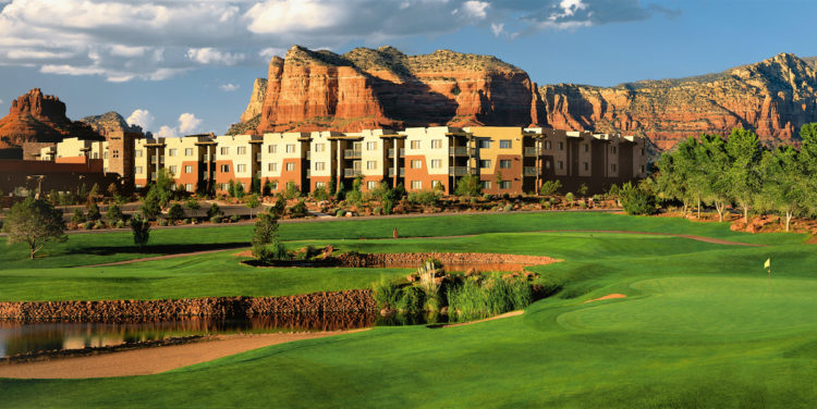 Sedona Doubletree Resort View from Sedona Golf Resort #18 green