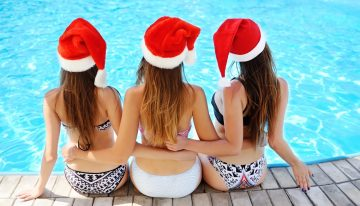 Christmas-Themed Pool Party at FOUND:RE Phoenix