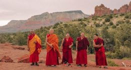 Tibetan Monks Visiting L'Auberge de Sedona, A Destination Hotel