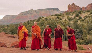 Tibetan Monks Visiting L'Auberge de Sedona, A Destination Hotel