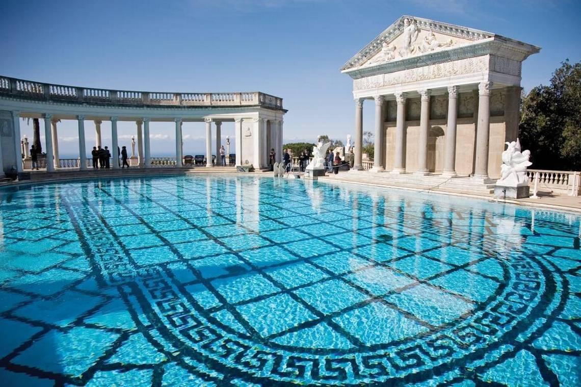 Rare chance to swim in heart castle 39 s neptune pool this summer - Hearst castle neptune pool swim auction ...