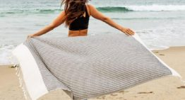 The Stylish Eco-Friendly Beach Towel That Doubles as a Throw