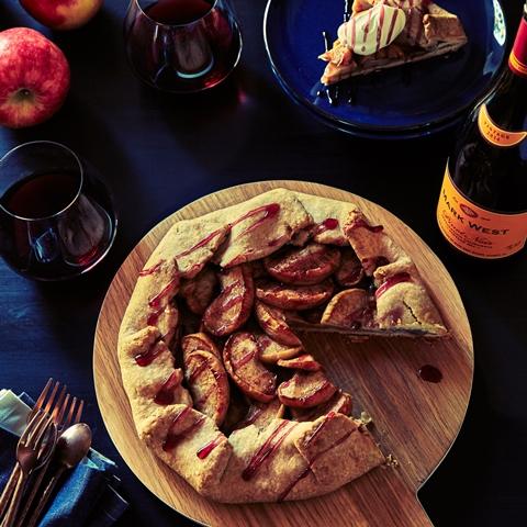 Caramelized Apple Galette Recipe — Dishmaps