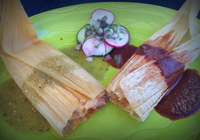 Barrio Queen_Pork Green Chile_Chicken Mole Tamales_11 18 14