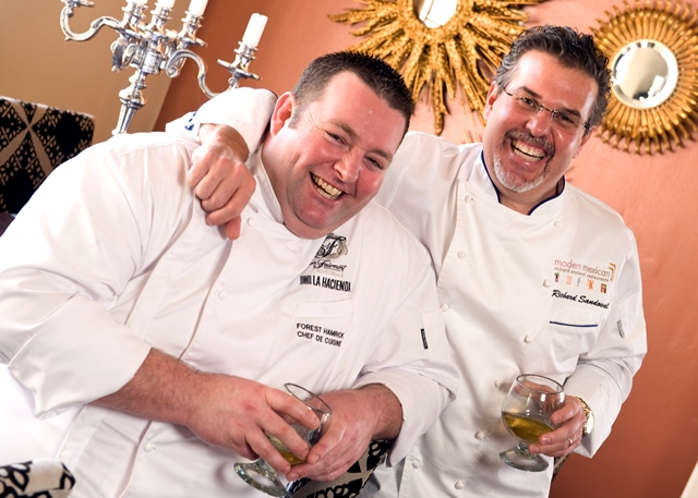 Chefs Hamrick and Sandoval -La Hacienda
