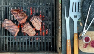 Recipe: Grilled NY Strip Steak with Red Wine Salt