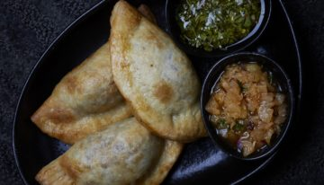 Recipe: Lisa Dahl's Portobello, Poblano and Three Cheese Empanada