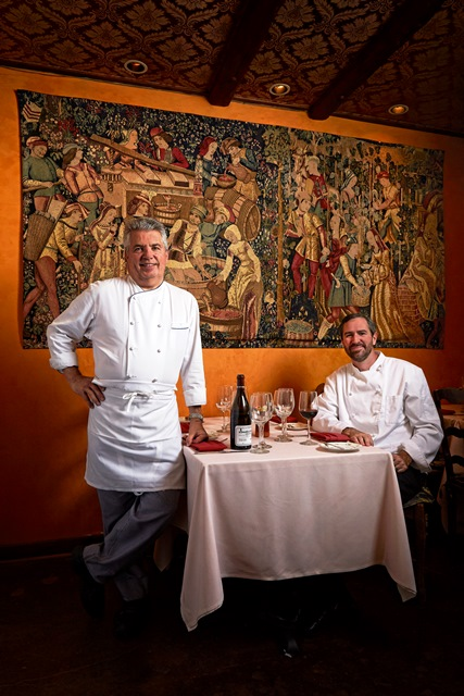 Vincent Guerithault and Chef Kevin Binkley_Photograph By DAVID ZICKL