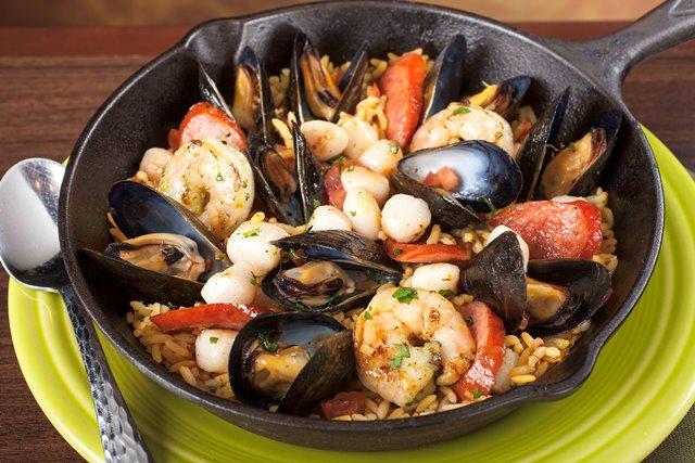 Z'Tejas Spring Menu Seafood Paella