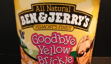 Ben & Jerry's New Goodbye Yellow Brickle Road