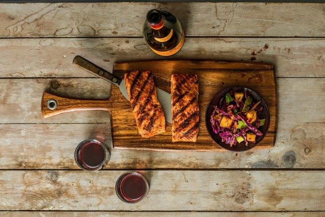 markwestmango wasabi salmon with slaw -Mark West Mango Wasabi Salmon with Slaw Image 1