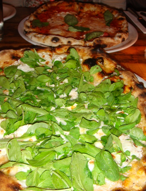 Biancoverde and Margherita Pizzas