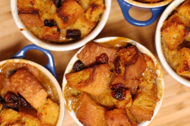 pumpkin cranberry bread pudding