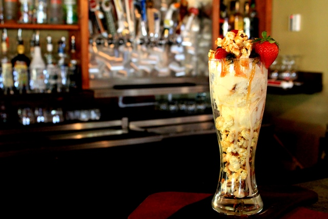 rico's Cracker Jack Sundae at Rico's Bar