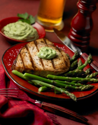 Grilled Swordfish with Avocado Butter