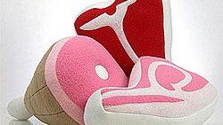Sweet Meats Fleece Pillows