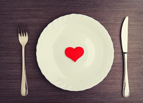 valentines dinner plate