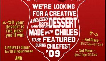 Z'Tejas Hosts Chile Fest Dessert Contest