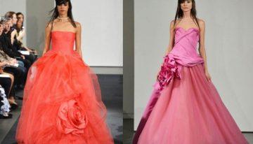 Pink Wedding Dresses at Vera Wang Fall 2014