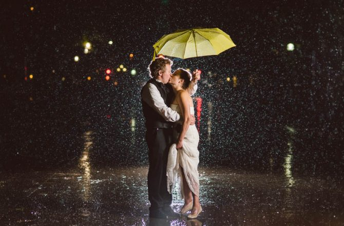 Bad Weather and Natural Disasters Lead to Incomparable Wedding Photos