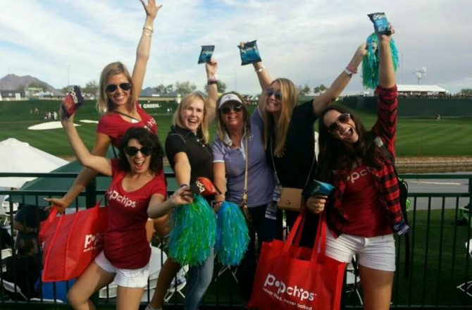Popchips: the Shining Popstar at the 2015 Waste Management Phoenix Open
