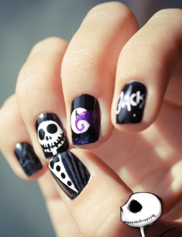 do it yourself halloween nail art inspiration. Black Bedroom Furniture Sets. Home Design Ideas