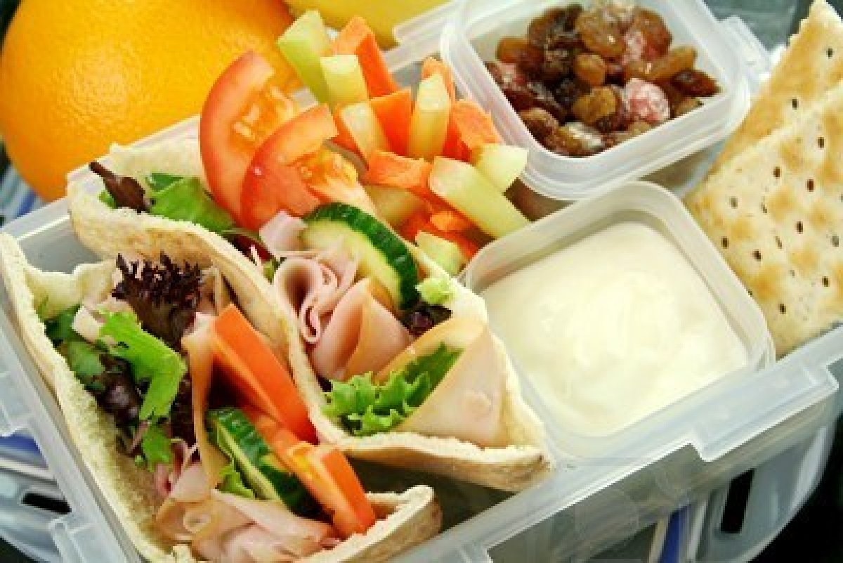4211530-healthy-kid-s-lunch-box-made-up-of-pita-bread-ham-and-salad ...