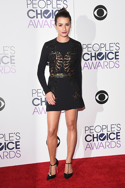 LOS ANGELES, CA - JANUARY 06: Actress Lea Michele poses in the press room during the People's Choice Awards 2016 at Microsoft Theater on January 6, 2016 in Los Angeles, California. (Photo by Jason Merritt/Getty Images)