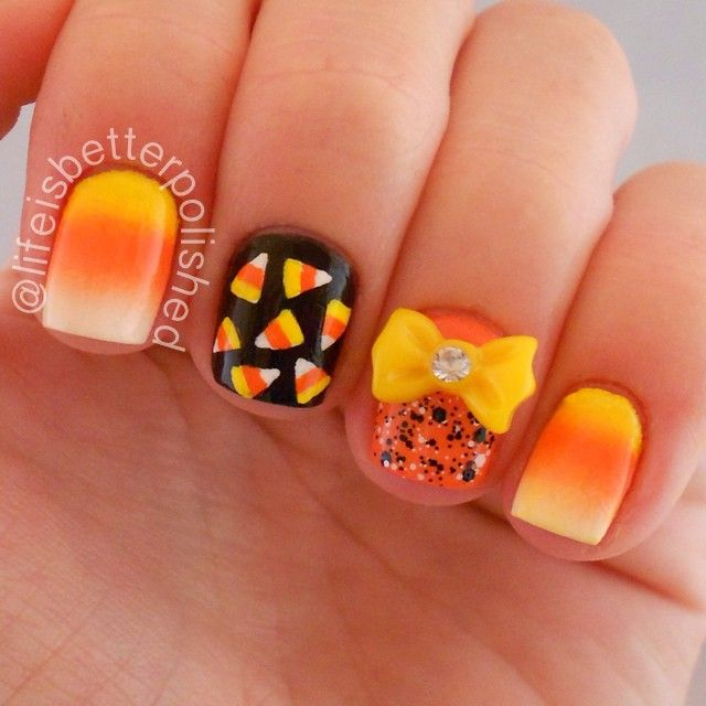 Cute nail design for halloween halloween nail art designs acrylic view images do it yourself halloween nail art inspiration solutioingenieria Choice Image