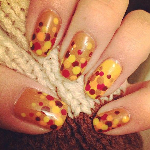 Diy Autumn Gradient Nail Art: DIY Thanksgiving Nail Art