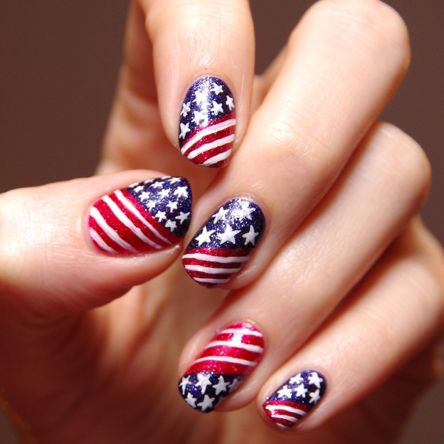 Nail Polish Games For Girls Do Your Own Nail Art Designs: The Best Do It Yourself Fourth Of July Nail Art