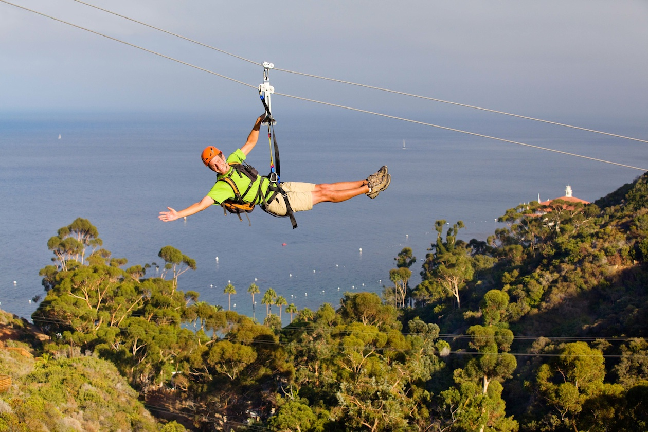 Best places to zip line in california